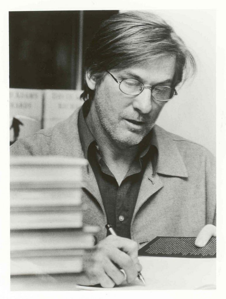 Author David Adams Richards signs books in Australia.