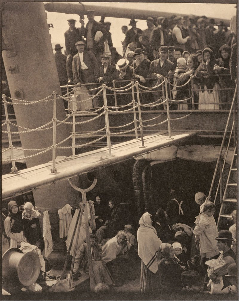 The Kaiser Wilhelm II, by Alfred Stieglitz.  My great-grandmother and her mother and sisters took this ship to Ellis Island in 1908.