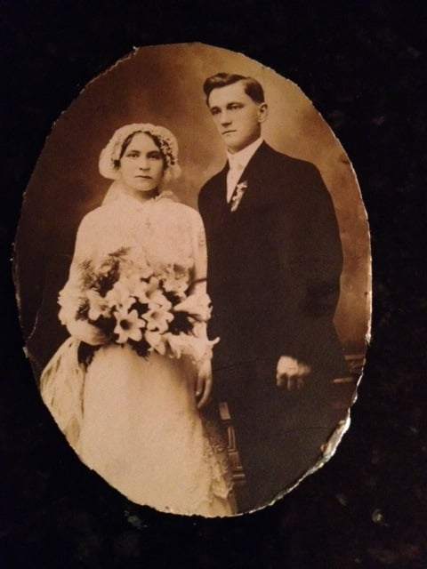 Aniela and Jan on their wedding day, June 6, 1915