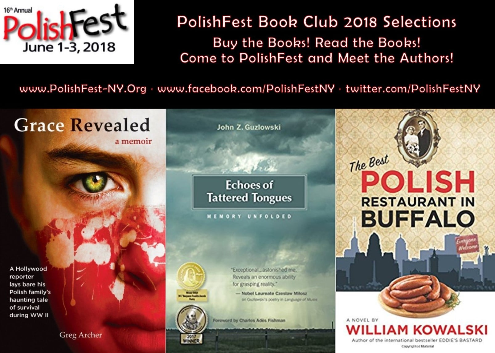 Poster of book club selections.