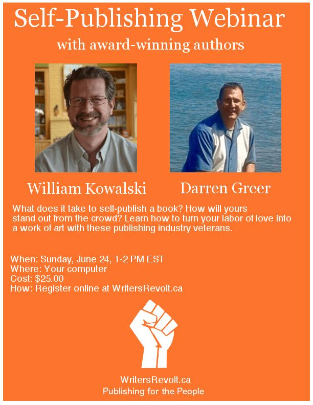 Poster for webinar at writersrevolt.ca